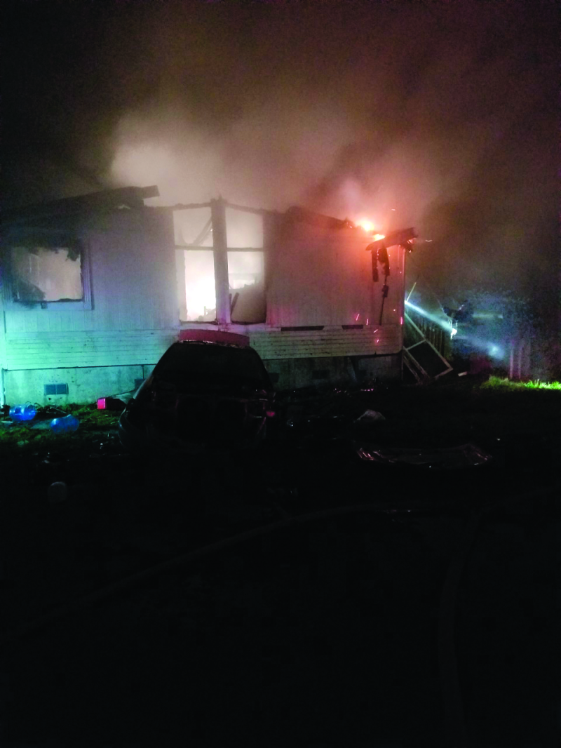 Structure fire in Winlock
