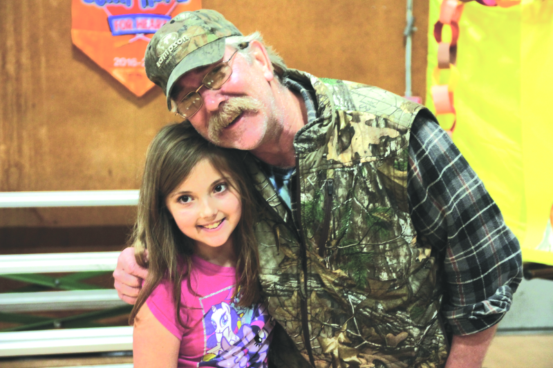 Photo by Lynnette Hoffman - Claire Pinkerton enjoying Grandparents Day on Nov. 16 at Winlock Elementary with her Grandpa Robert Giberson.