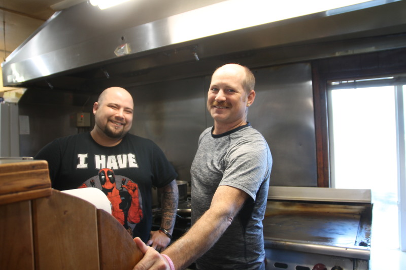 Damian Dazo (left) and Jason Dailey (right) cooking up a storm at the Little Crane!