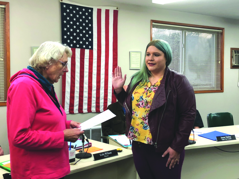 Swore in new member; Vader City Council meeting had packed house
