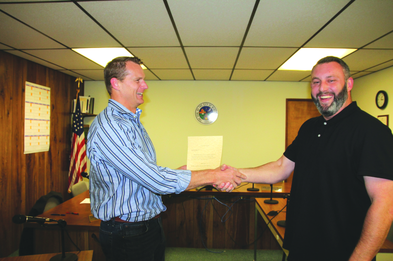 New Winlock City Attorney Jim Buzzard and  New Winlock Mayor Brandon Svenson