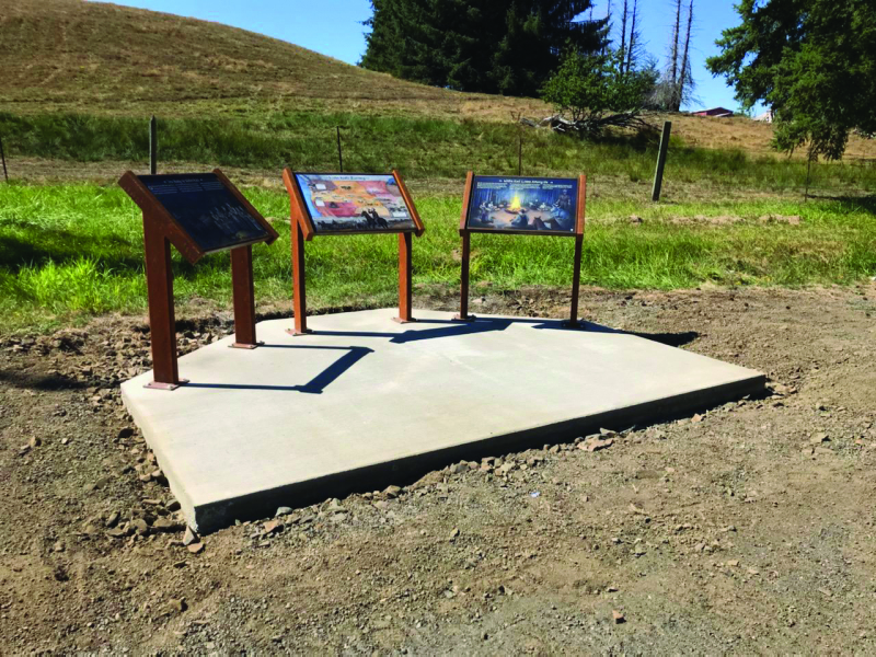 Memorial interpretive panels installed this summer