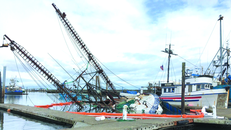 Coast Guard and State Department of Ecology complete pollution mitigation work on sunken vessel