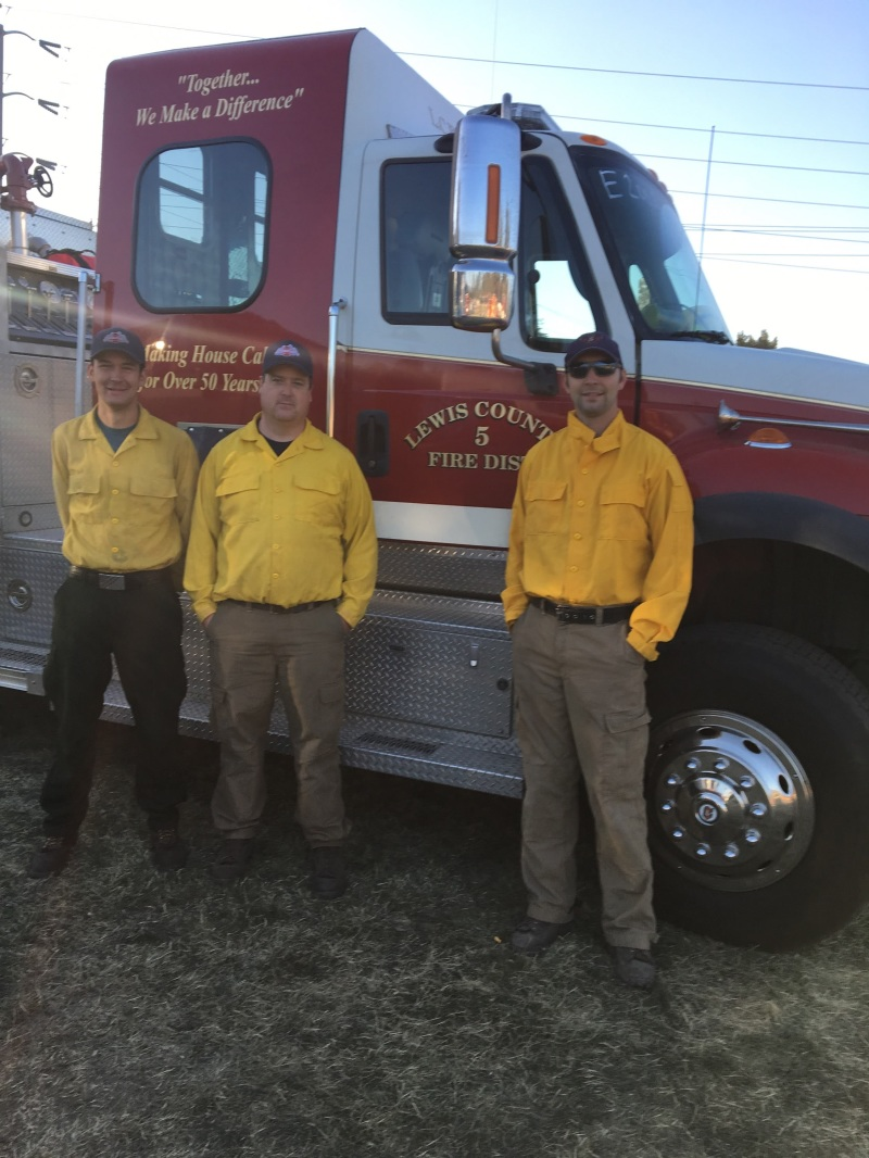 Napavine Fire Department answers the call of duty to help in the California fires.