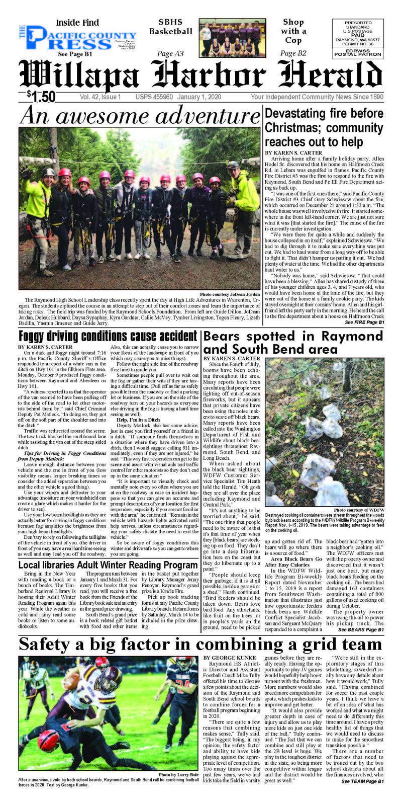 January 1, 2020 Willapa Harbor Herald and Pacific County Press