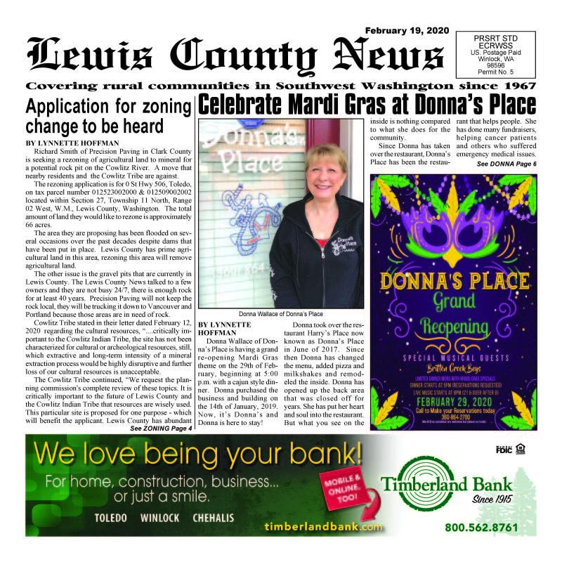 February 19, 2020 Lewis County News