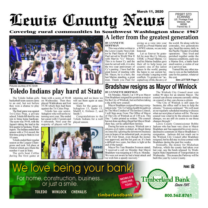 March 11, 2020 Lewis County News