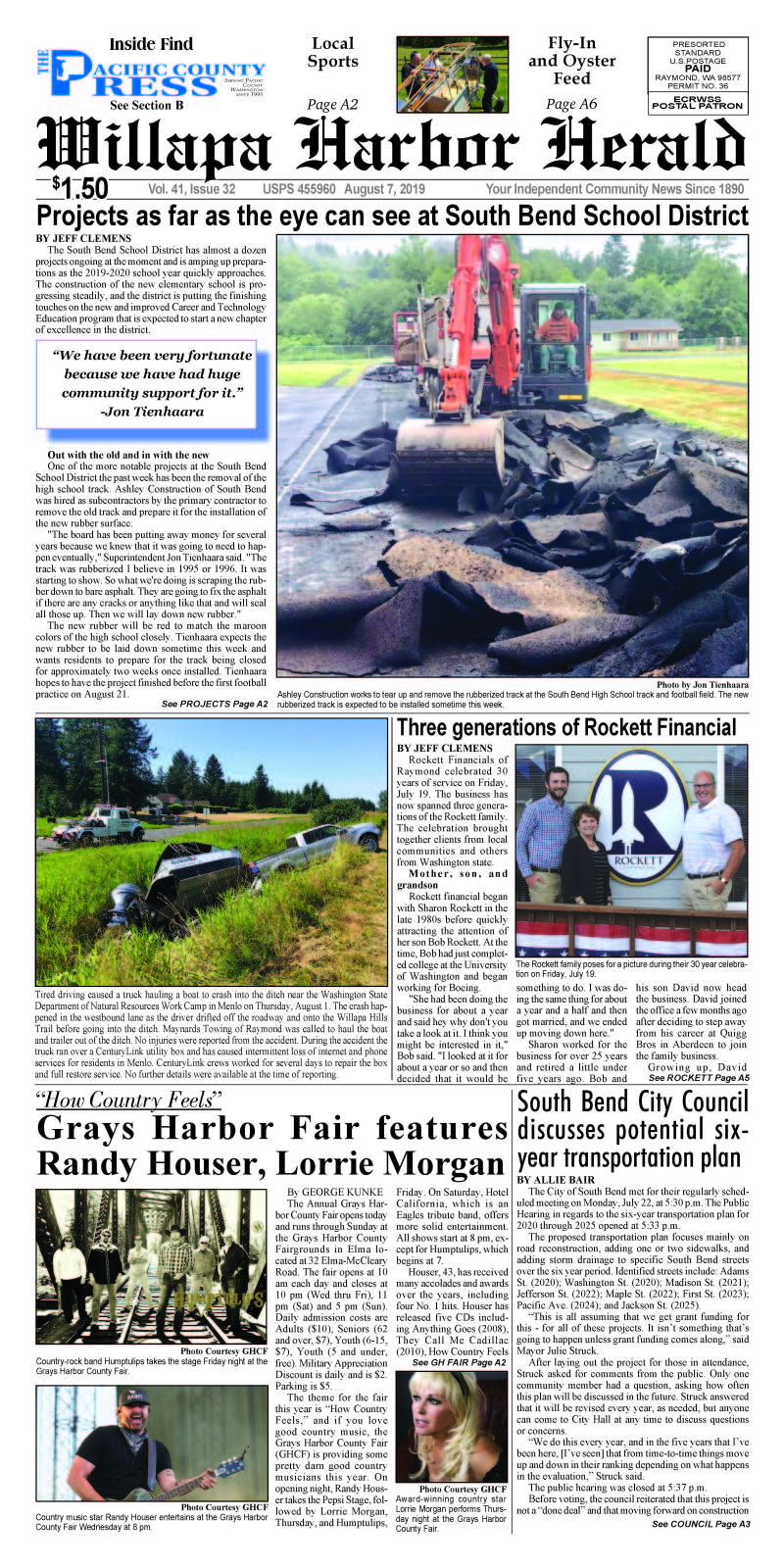 August 7, 2019 Willapa Harbor Herald