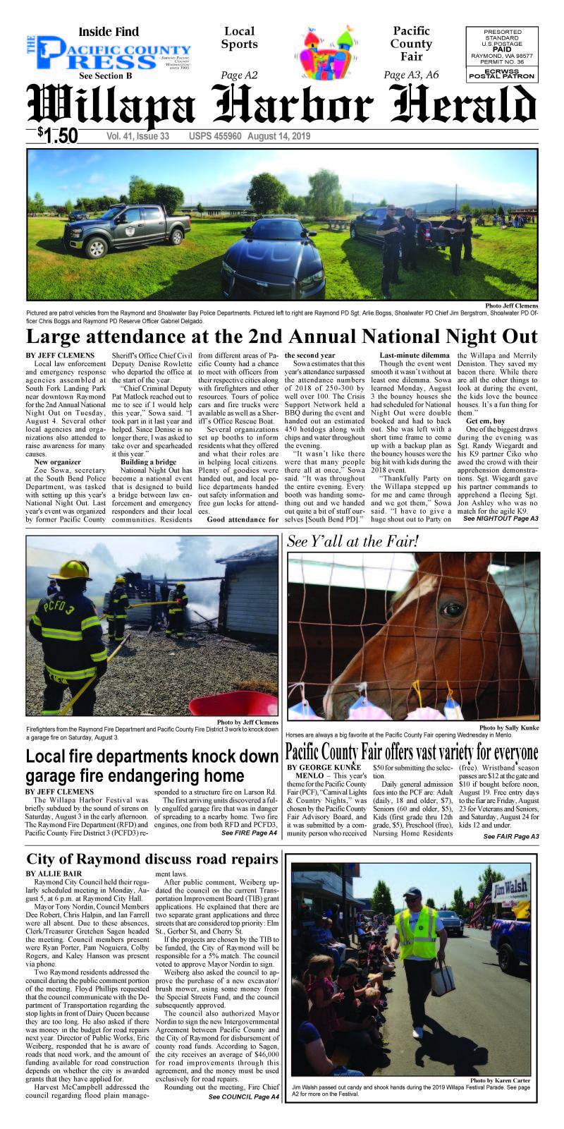 August 14, 2019 Willapa Harbor Herald