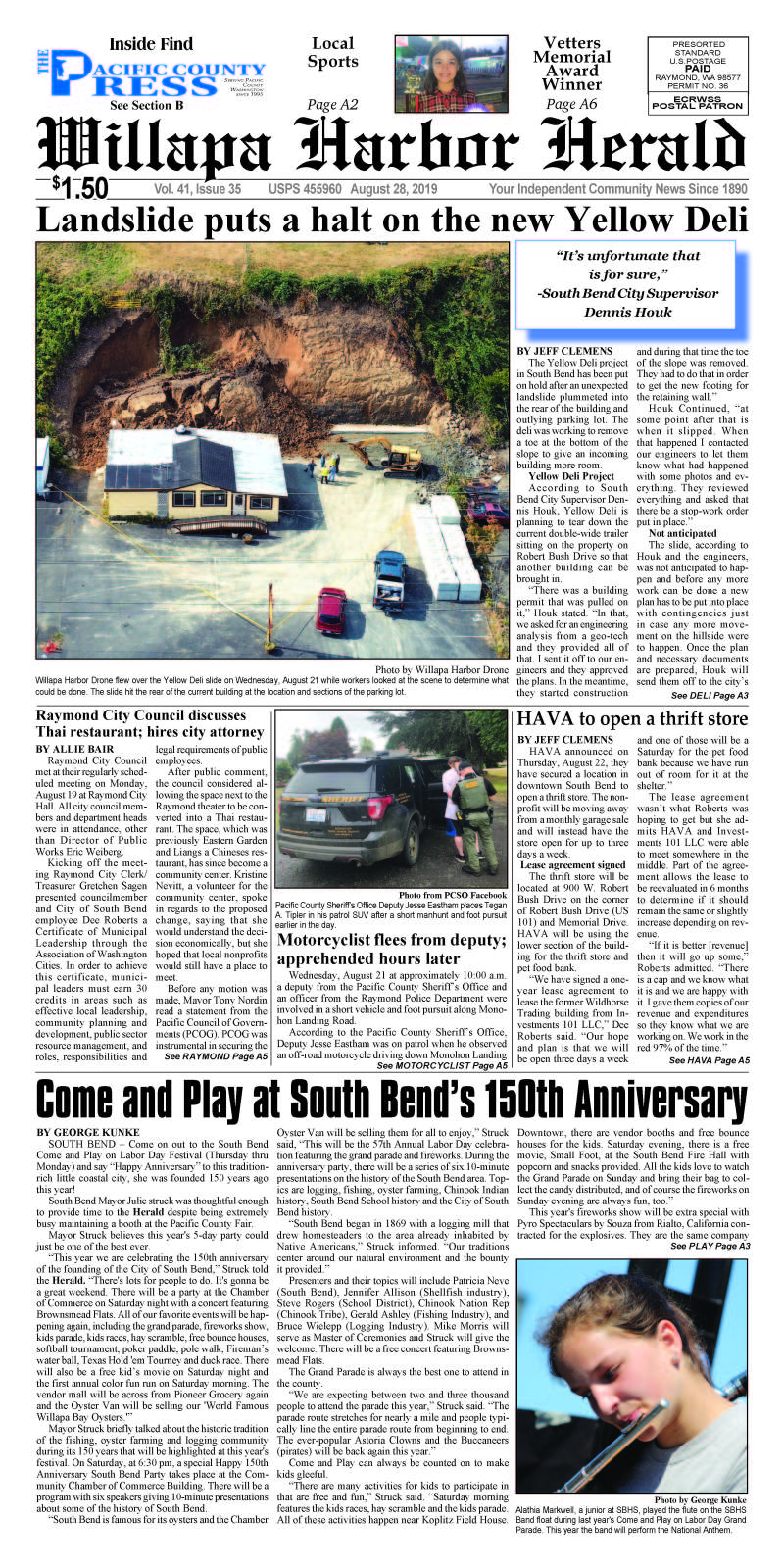 August 28, 2019 Willapa Harbor Herald