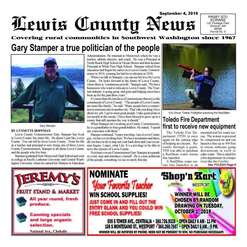 September 4, 2019 Lewis County News (Town Crier)