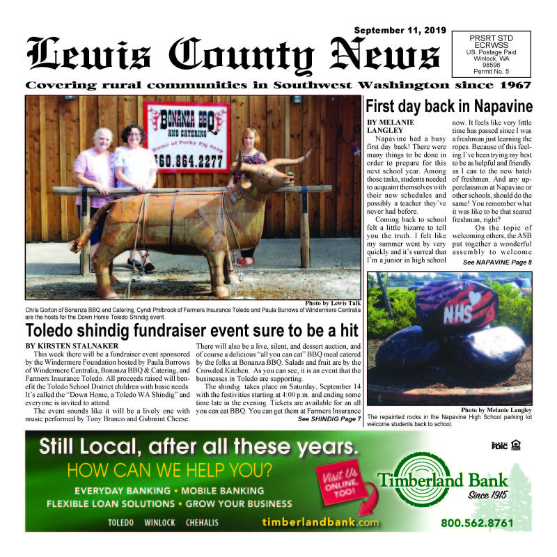 September 11, 2019 Lewis County News (Town Crier)
