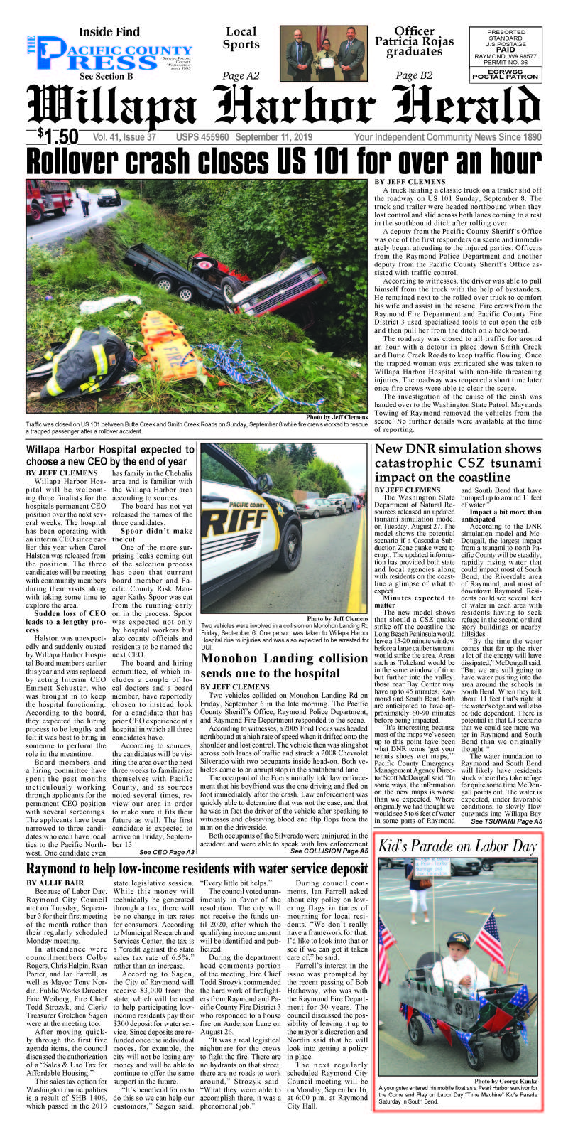 September 11, 2019 Willapa Harbor Herald and Pacific County Press