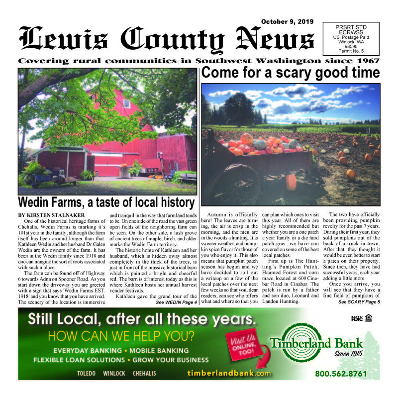 October 9, 2019 Lewis County News