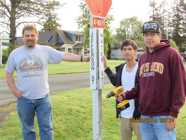 Street signs going up