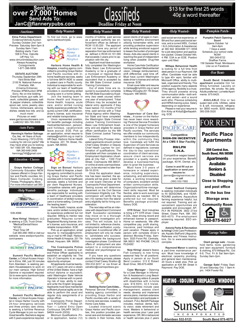 Classifieds 9.28.16