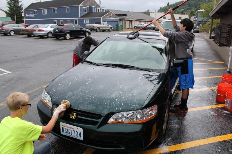 Raymond HS Band car wash