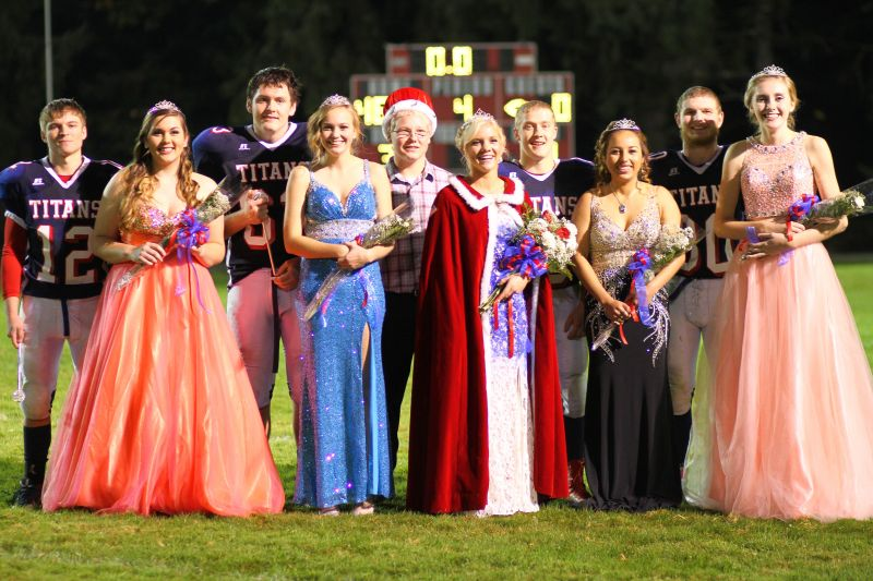 The Willapa Valley Homecoming Court