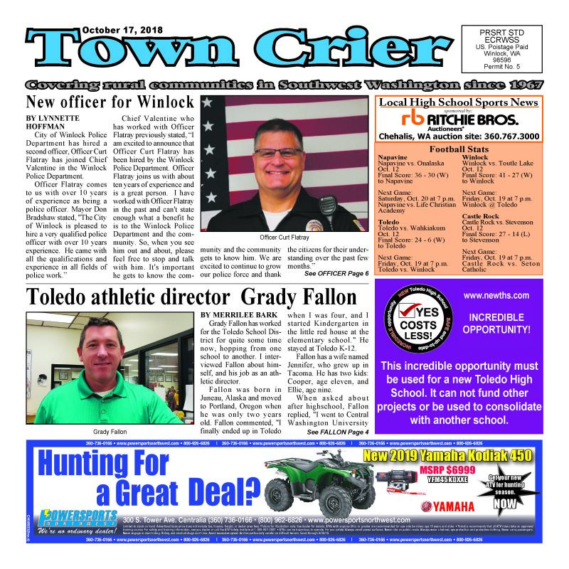 October 17, 2018 Town Crier