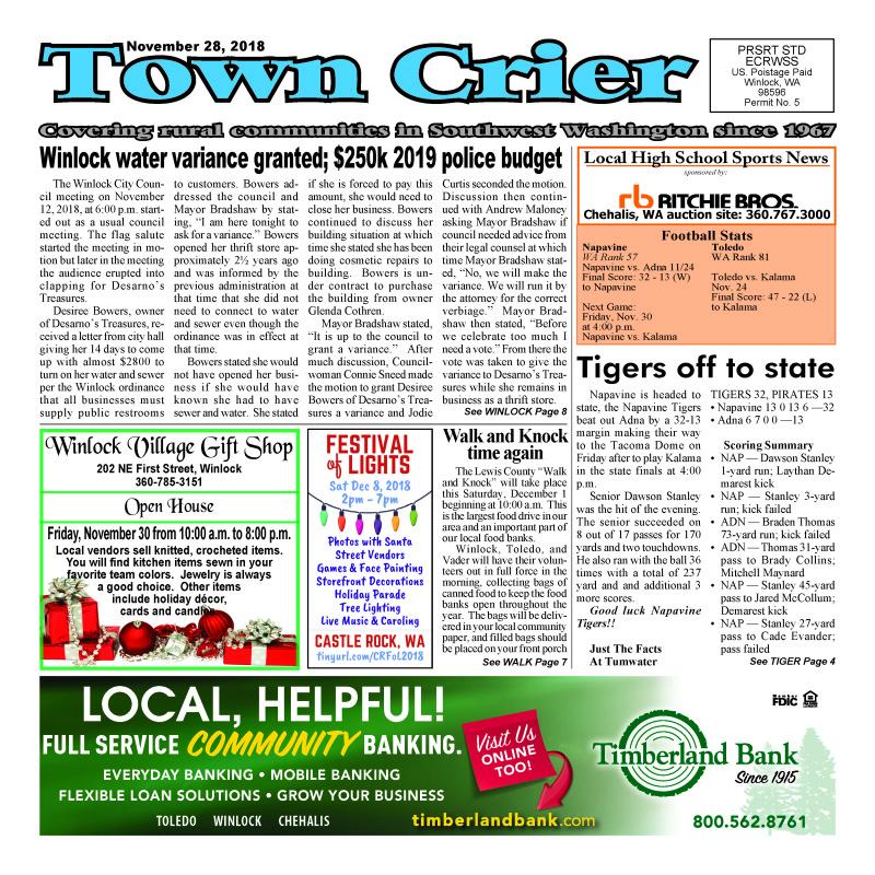 Town Crier November 28, 2018