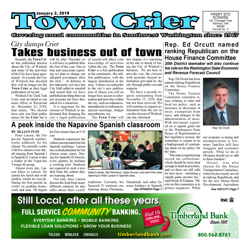 January 1, 2019 Town Crier