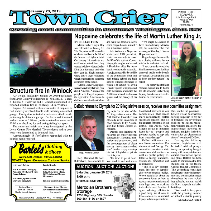 January 23, 2019 Town Crier