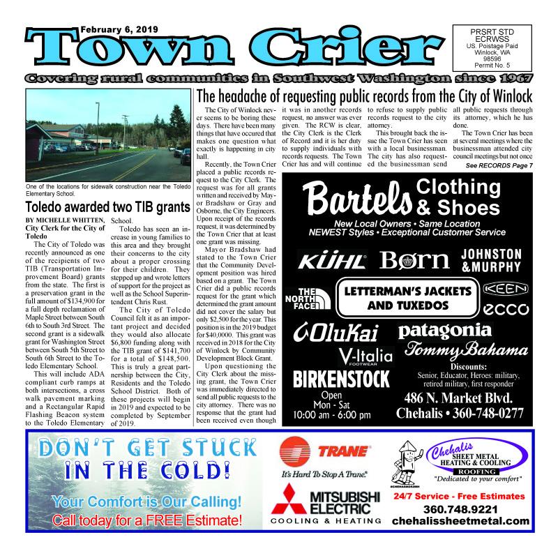 February 6, 2019 Town Crier