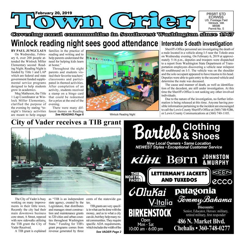 February 20, 2019 Town Crier