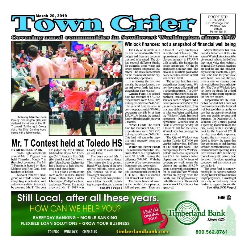 March 20, 2019 Town Crier