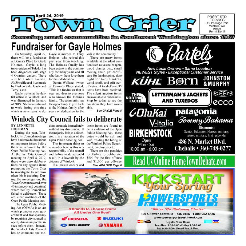 April 24, 2019 Town Crier