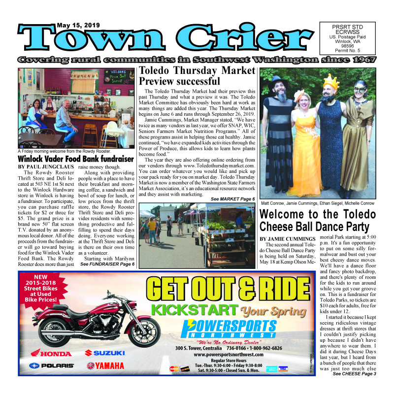 May 15, 2019 Town Crier