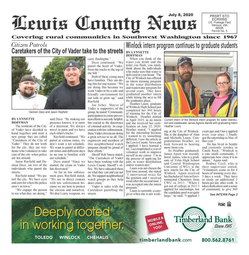 July 8, 2020 Lewis County News