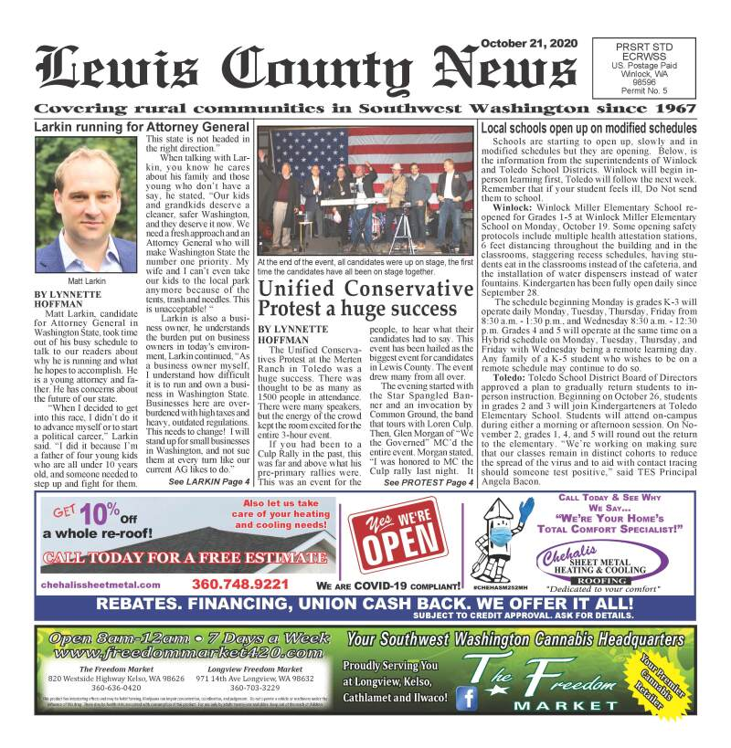 October 21, 2020 Lewis County News