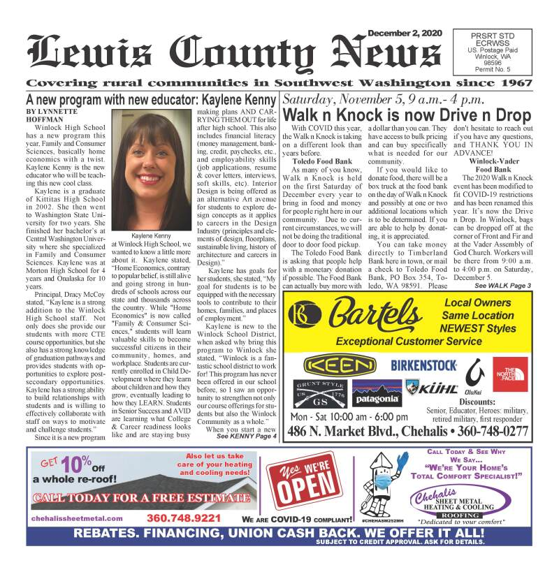 December 2, 2020 Lewis County News