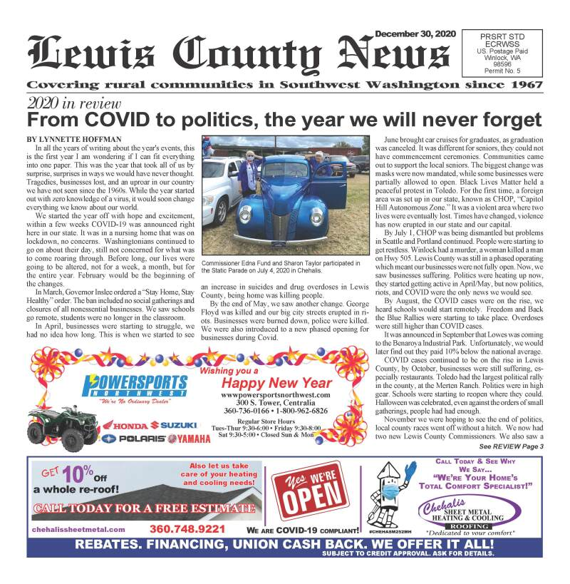 December 30, 2020 Lewis County News