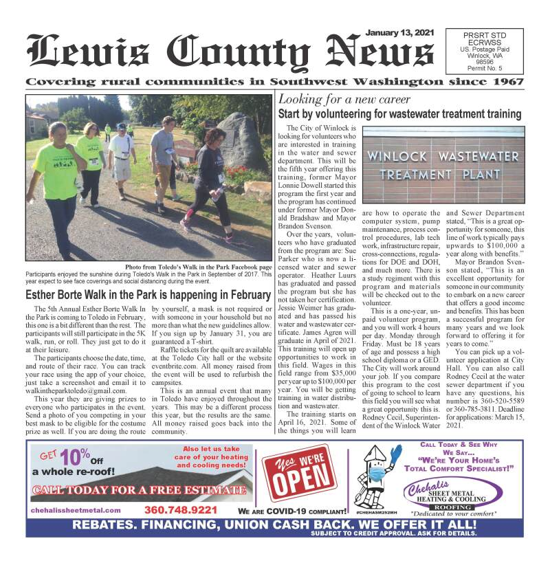 January 13, 2021 Lewis County News