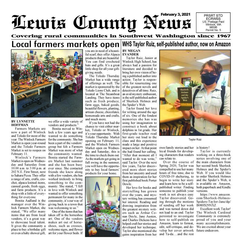 February 3, 2021 Lewis County News