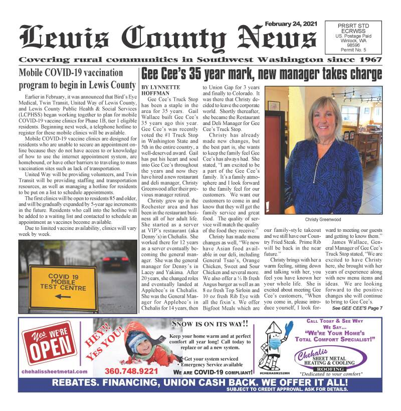 March 3, 2021 Lewis County News