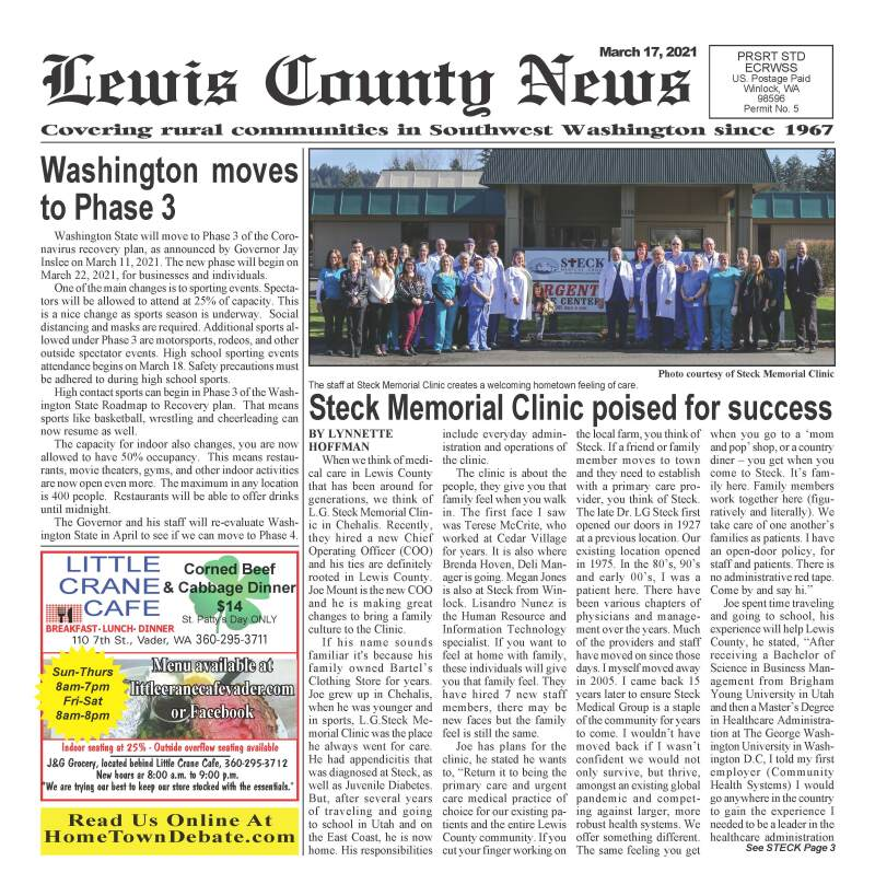 March 17, 2021 Lewis County News
