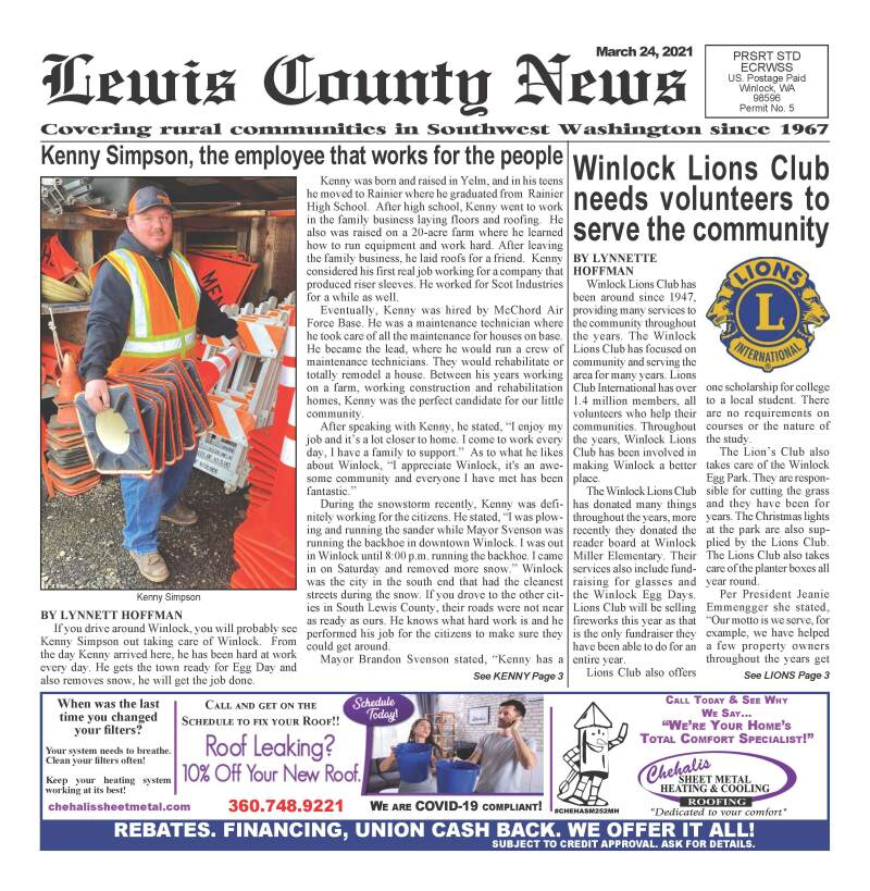 March 24, 2021 Lewis County News