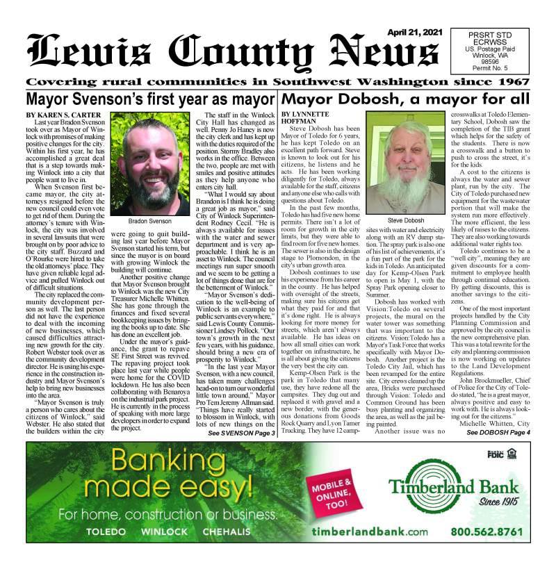 April 21, 2021 Lewis County News