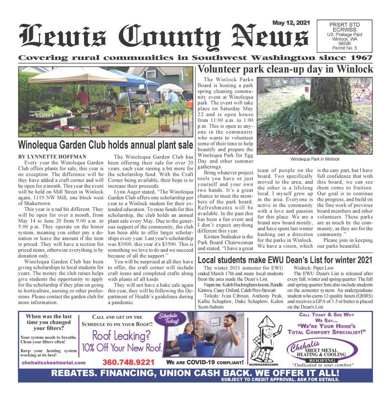 May 12, 2021 Lewis County News