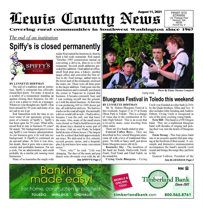 August 11, 2021 Lewis County News