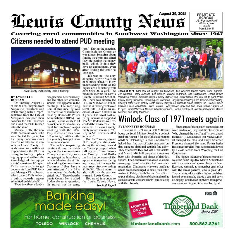 August 25, 2021 Lewis County News
