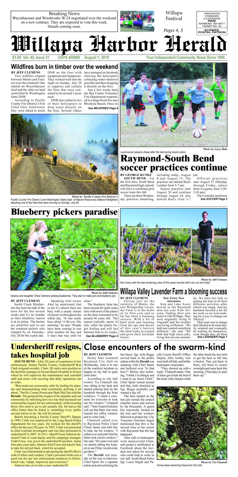 August 1, 2018 Willapa Harbor Herald
