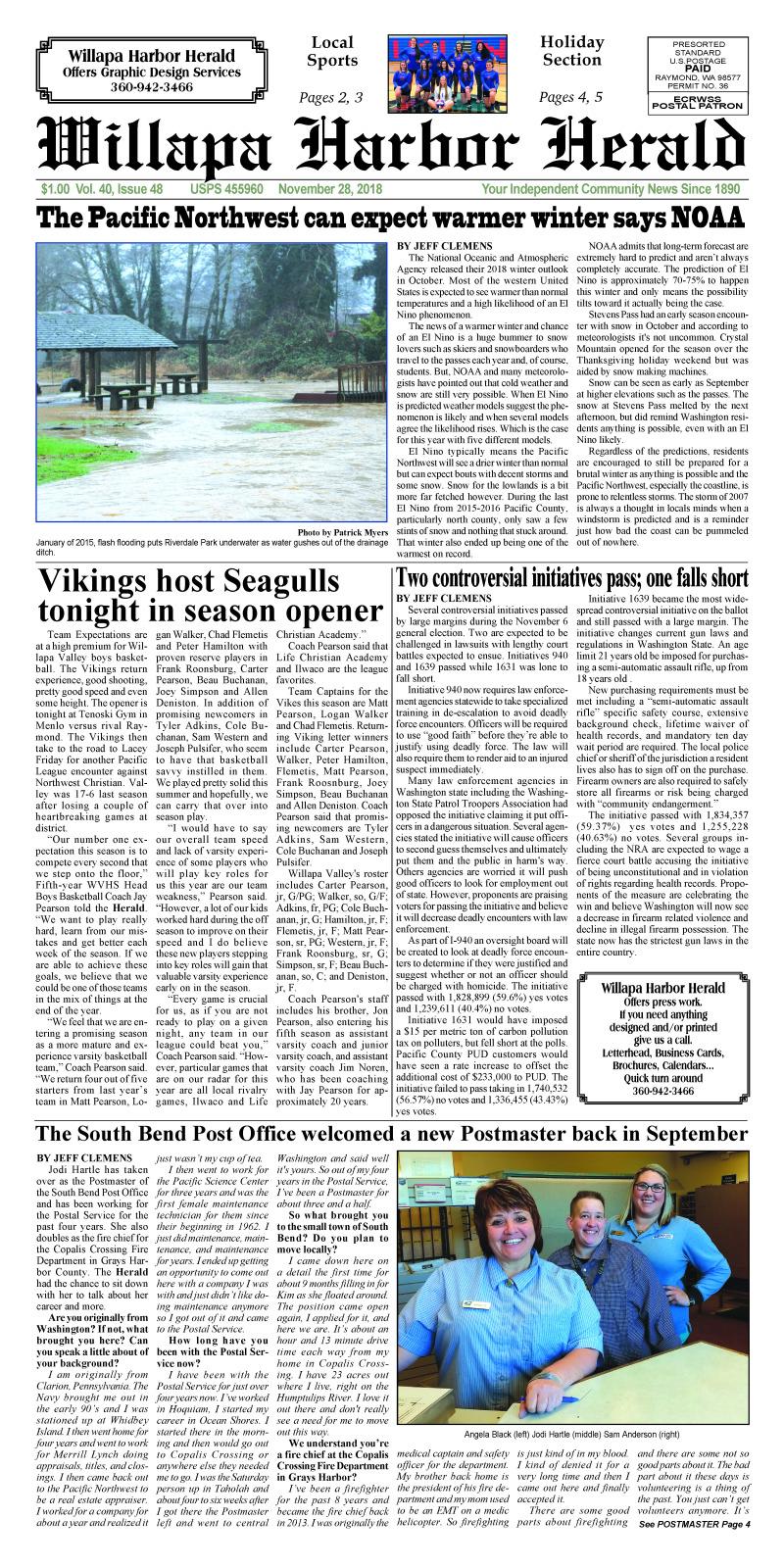 Willapa Harbor Herald November 28, 2018
