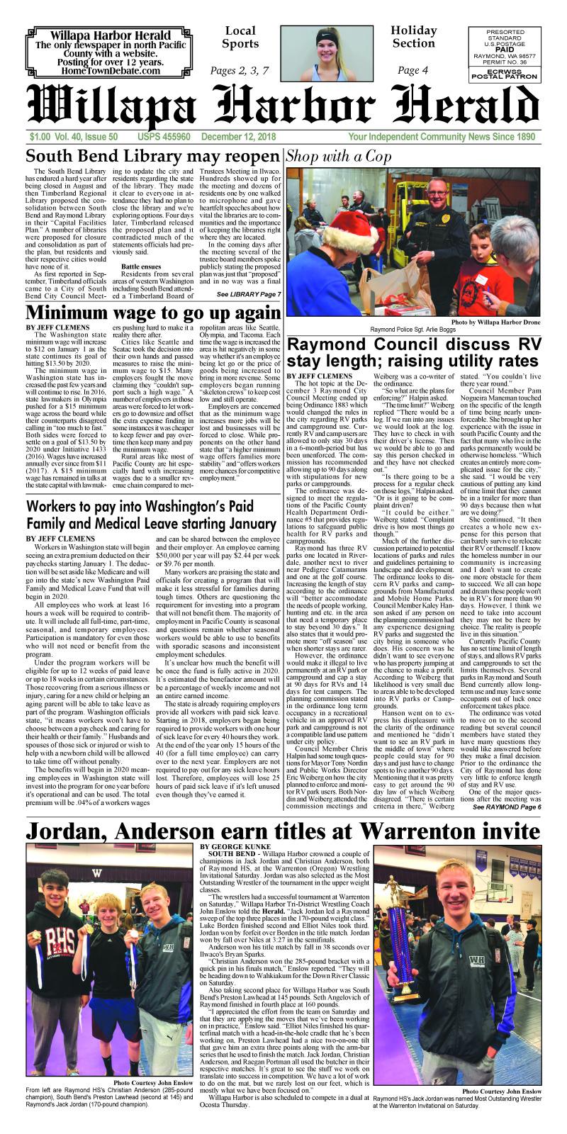 Willapa Harbor Herald December 12, 2018