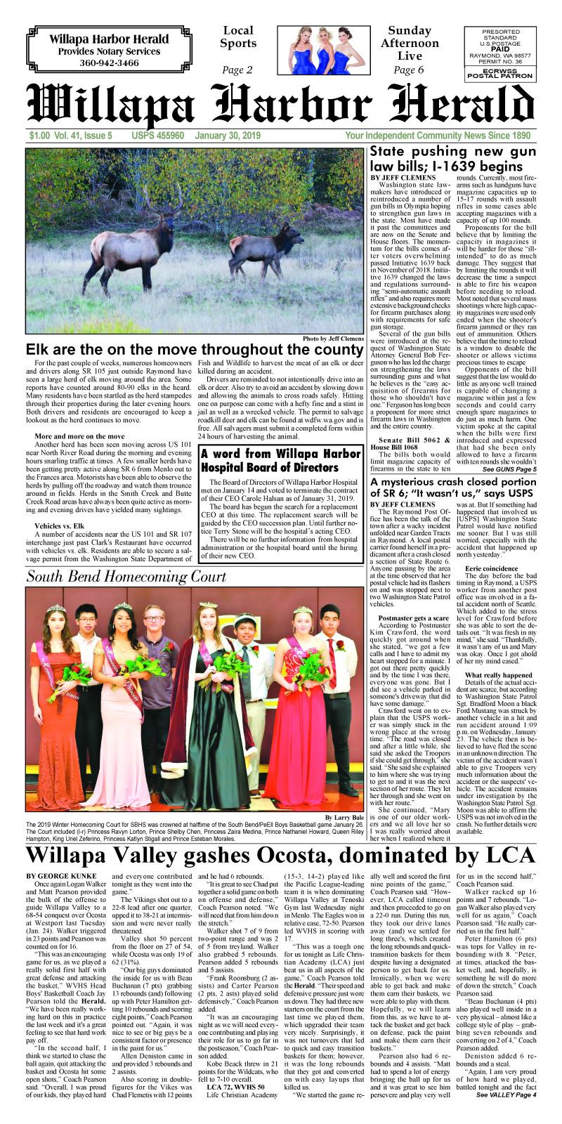 January 30, 2019 Willapa Harbor Herald