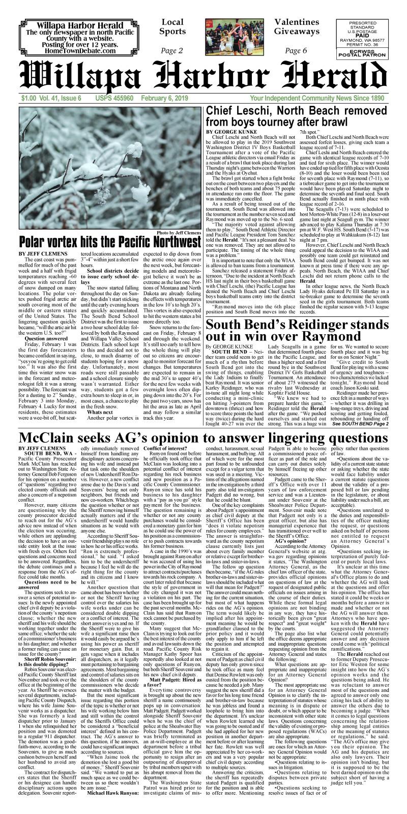 February 6, 2019 Willapa Harbor Herald