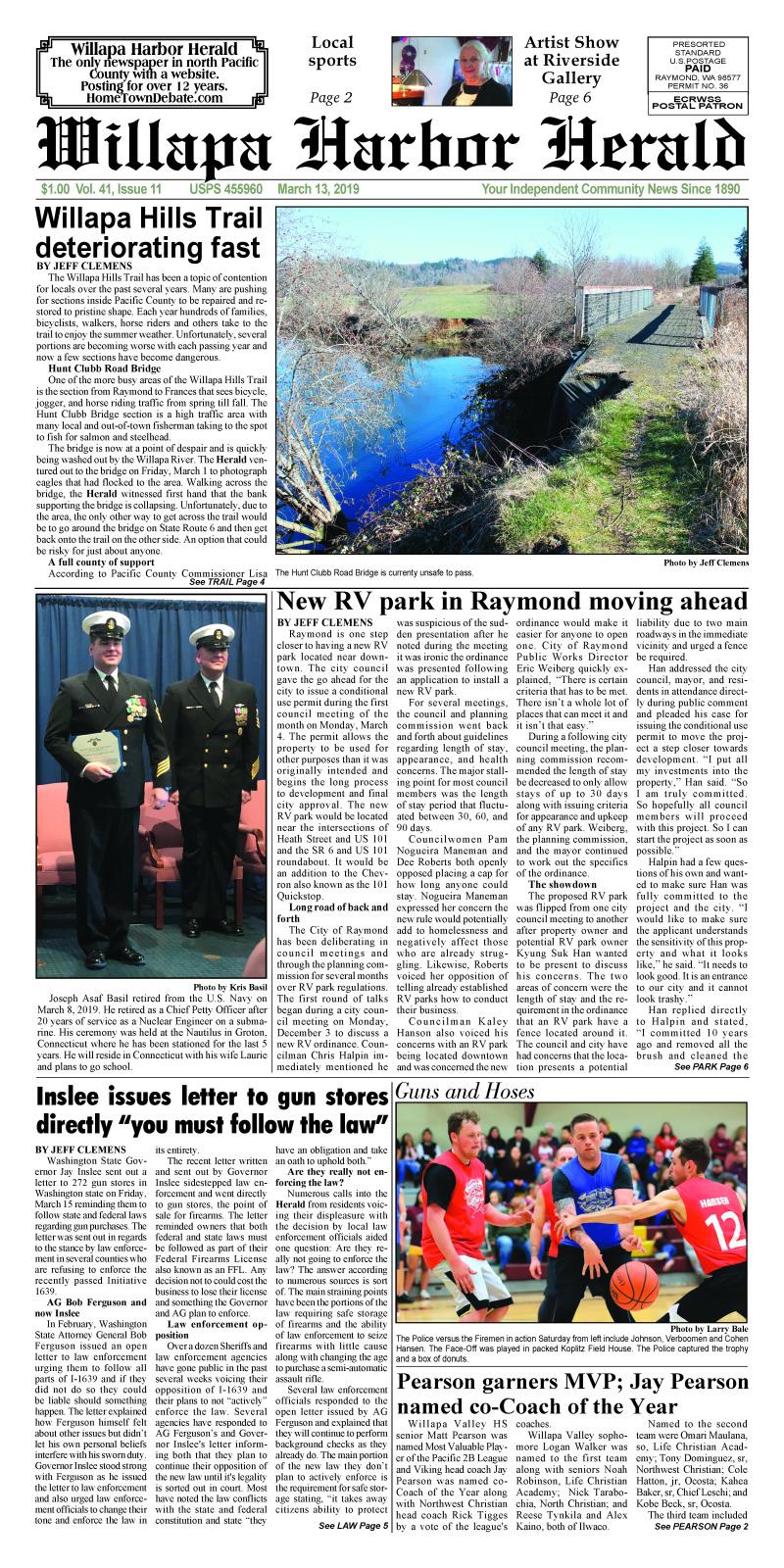 March 13, 2019 Willapa Harbor Herald